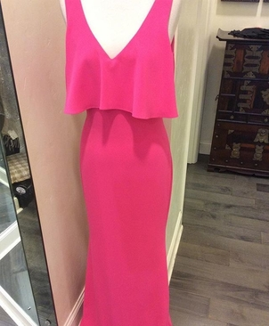 Watermelon Pink Gown Dresses