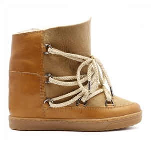 Isabel Marant ISABEL MARANR NOWLES FLANNEL BOOT IN CAMEL Shoes