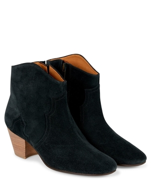 Isabel Marant Étoile ISABEL MARANT ETOILE DICKER BOOT IN BLACK SUEDE Shoes
