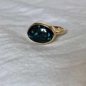 Fig. 7 Black + Blue Apache Turquoise + 14kg Ring Jewelry