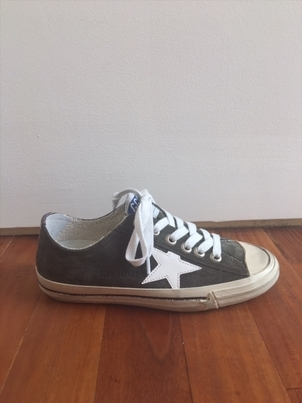 Golden Goose Deluxe Brand Military Green/White Patent Star Sneaker Sale Shoes