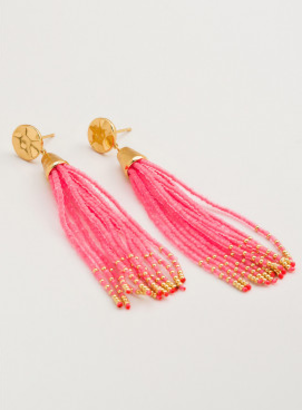 Gorjana Hot PinkTassel Earrings Jewelry