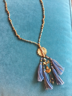Chan Luu Amulet Necklace with Tassels Jewelry