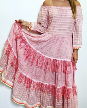 LEMLEM ANAN TIERED MAXI DRESS IN ROSE