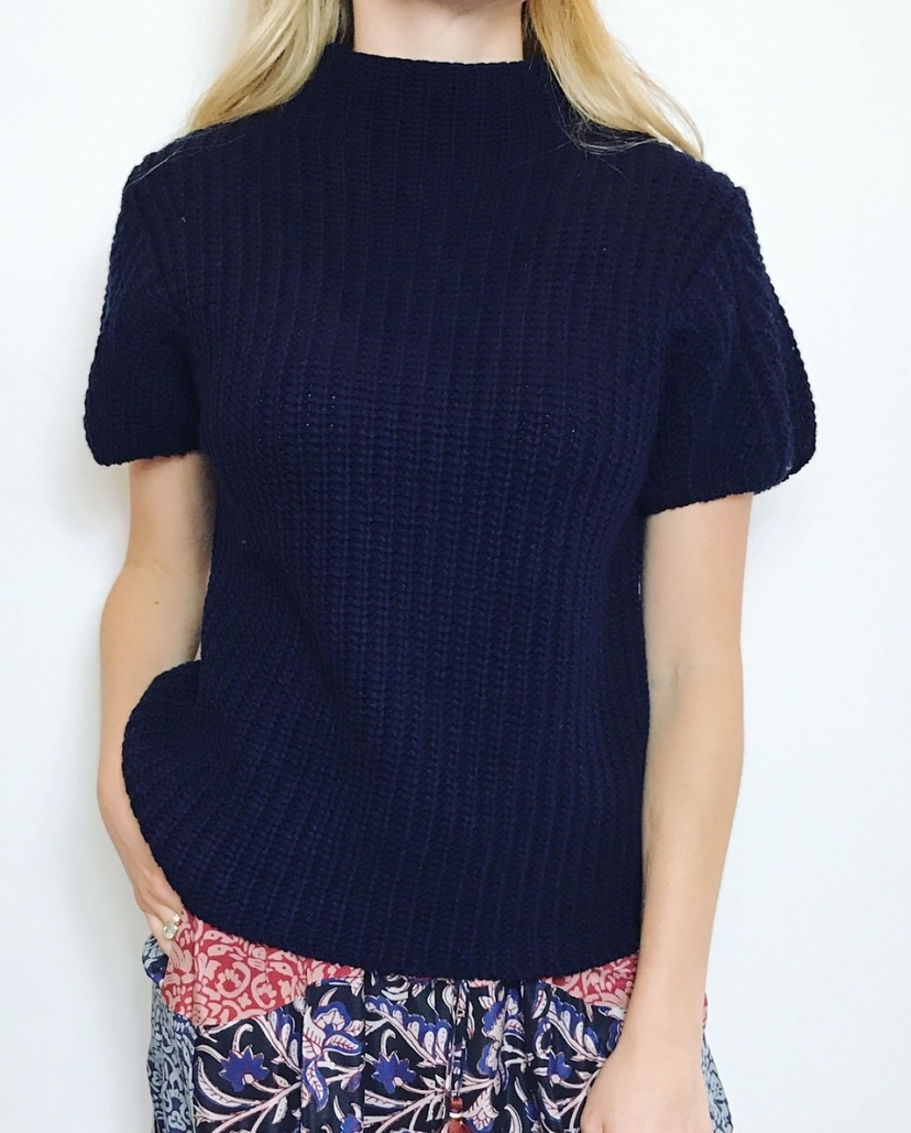SEA TURTLENECK PULLOVER IN NAVY