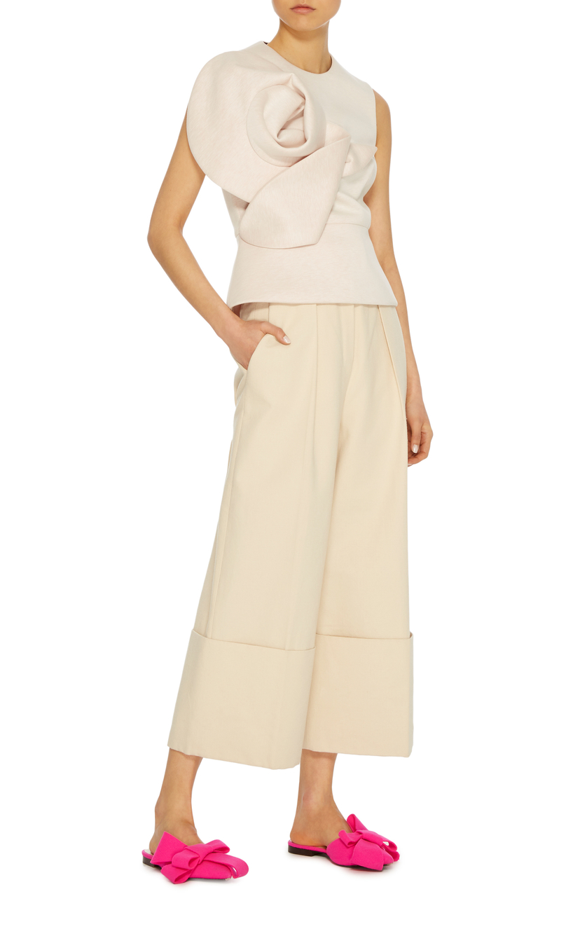 Delpozo Sleeveless Blouse With Flower Tops