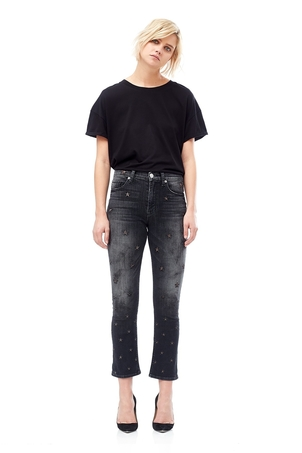 Hudson Harper High Rise Crop Baby Kick Flare Jeans Pants