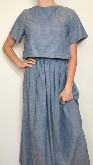 Chloé CHLOE CHAMBRAY BACK BUTTON UP DRESS Dresses