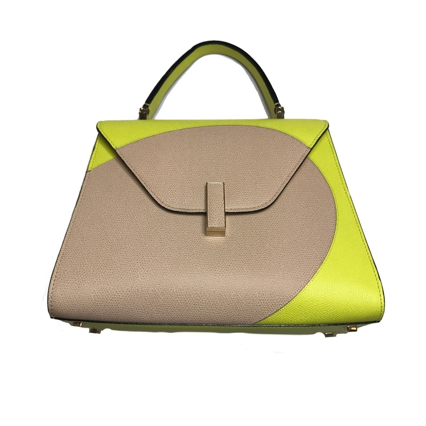 Valextra VALEXTRA ISIDE TRIANGLE BAG IN LIME Bags