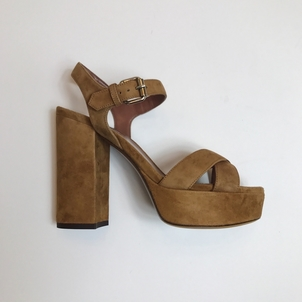Tabitha Simmons TABITHA SIMMONS SUEDE SANDAL PUMP IN SAND Shoes