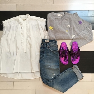 Chinti and Parker Figue Nili Lotan Travel Uniform Outerwear Pants Shoes Tops