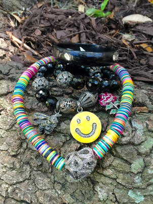 The Woods Fine Jewelry Black Horn and African Day Bead Jewelry Jewelry