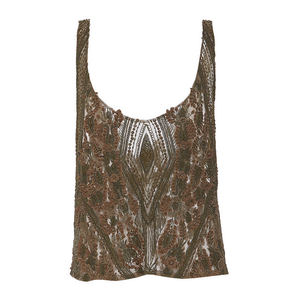 Sally LaPointe Floral Lace Embroidered Tank Tops