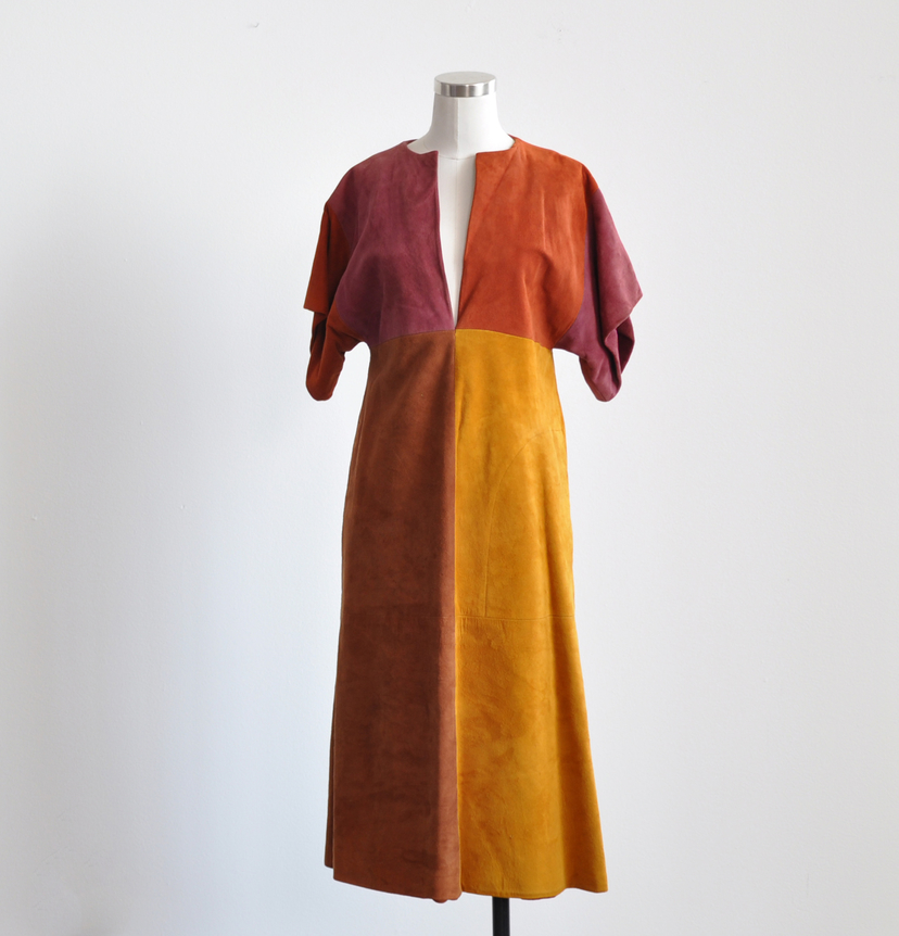 Spiced Leather Dress