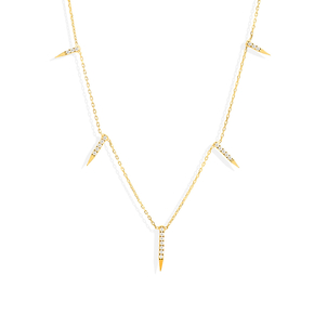 Alex Mika Dagger Necklace in Yellow Gold Jewelry