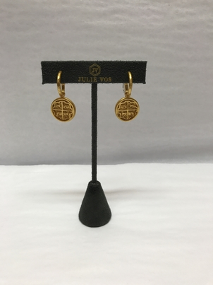 Julie Vos Gold Coin Earrings Jewelry