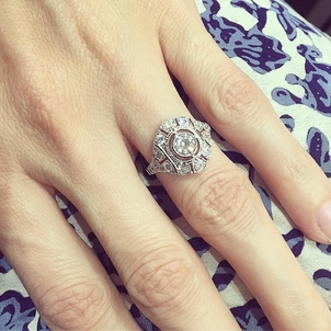 Our Renee ring is the perfect balance of delicate details and high voltage bling power... DM for details!