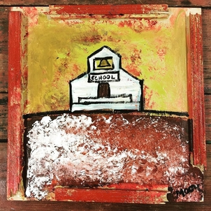 School House Painting Home decor