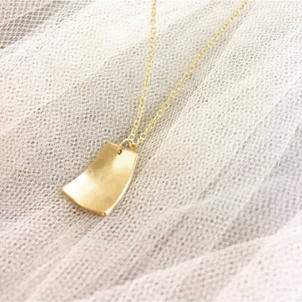 Leandra Hill Gold Filled Long Abstract Necklace Jewelry