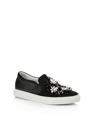 Lanvin Embroidered Slip on Sneaker Shoes