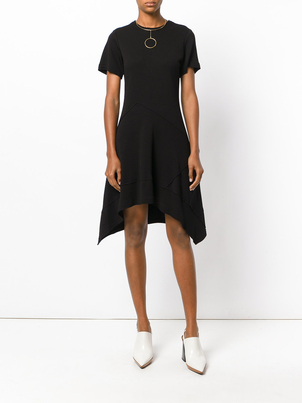 Proenza Schouler Black Asymmetric Waist Dress Dresses