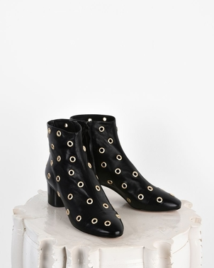 Isabel Marant Danay Eyelet Leather Ankle Boots Shoes