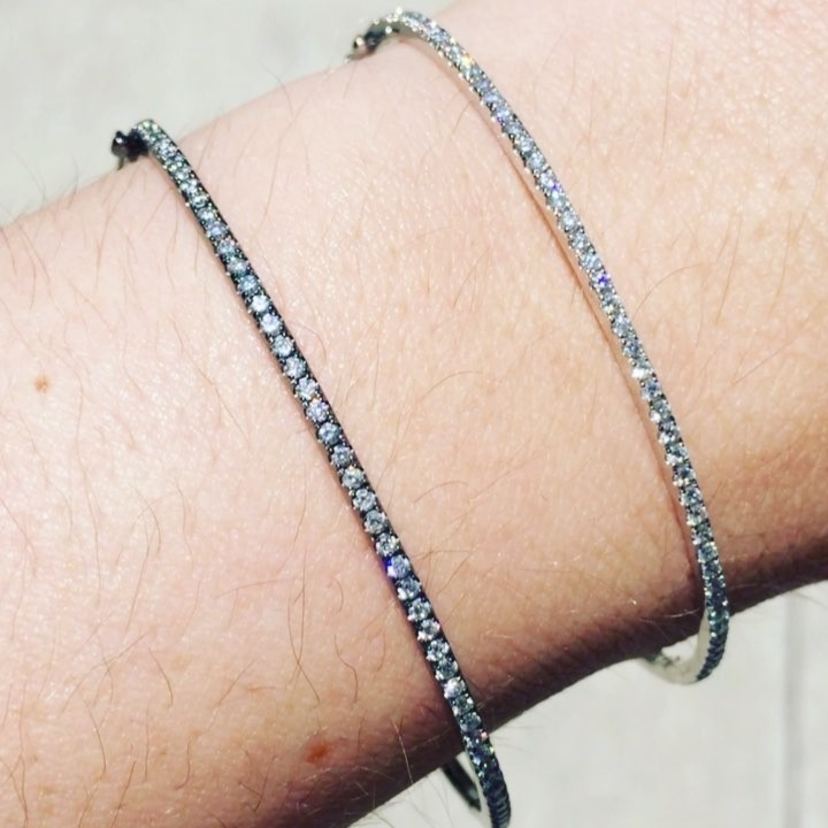 Diamond bracelets in White Gold and Black Rhodium priced at 30% off!