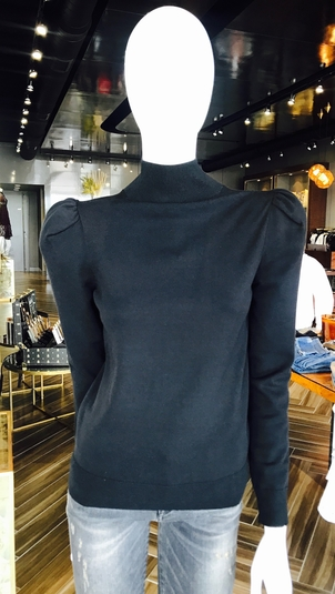 Co Black Turtleneck Tops