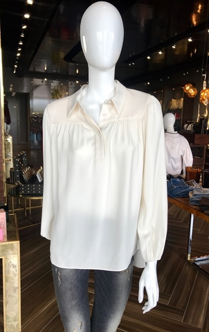 Co Half Placket Top Tops