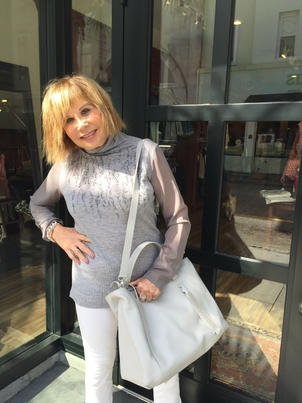 Fabiana Filippi Wool Turtleneck with Silk Sleeves Bags Tops