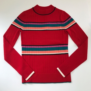 TOME TOME STRIPE RIBBED TURTLENECK