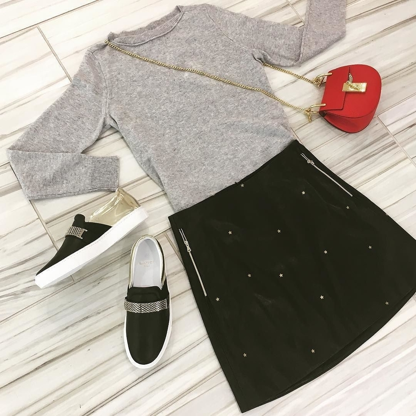 Chloé Isabel Marant L'Agence Lanvin Clint Sweater, Jolie Skirt & Accessories Bags Shoes Skirts Tops