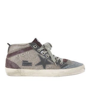 Golden Goose Deluxe Brand Midstar Sneaker - Red Glitter Shoes