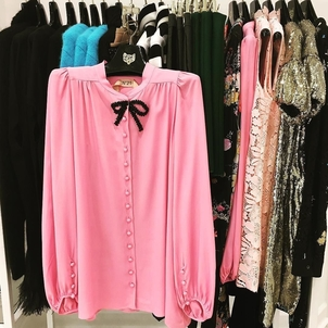 N°21 Pink Bow Blouse Tops