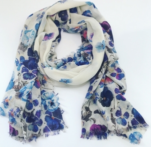 Franco Ferrari Floral Tarth Shawl Accessories