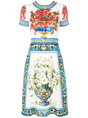 Dolce & Gabbana Majolica Print Dress Dresses