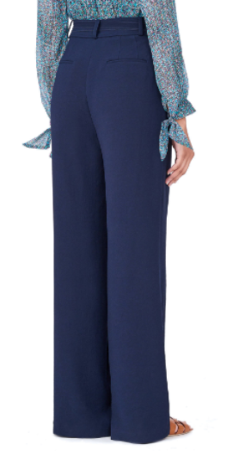Rebecca Taylor Crepe Pant with Tie Pants