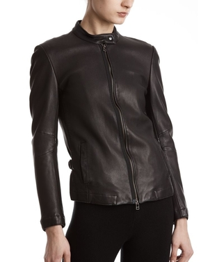 ATM Leather Moto Jacket Black Outerwear