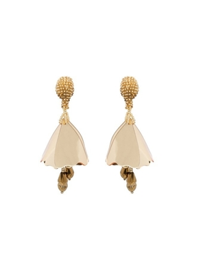 Oscar de la Renta Mini Impatiens Drop Earrings - Gold Jewelry