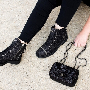 Chanel Chanel Sequin Bag & Guiseppe Zanotti Hilary Combat Boots Bags