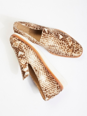 Free People Snake Eye Loafer Shoes