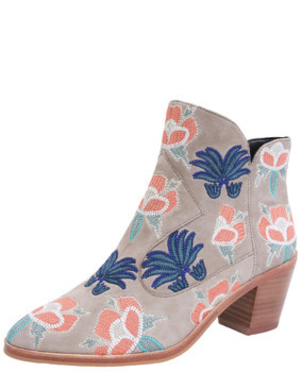 Rebecca Minkoff Lulu Too Embroidered Bootie Shoes