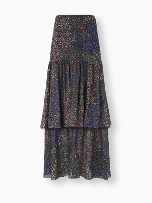 Chloé Tiered Maxi Skirt and Cashmere Sweater Skirts Tops