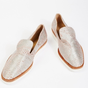Free People Snake Eyes Loafer in Silver Shoes