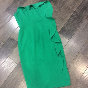 Jay Godfrey Emerald Ruffle Dress Dresses