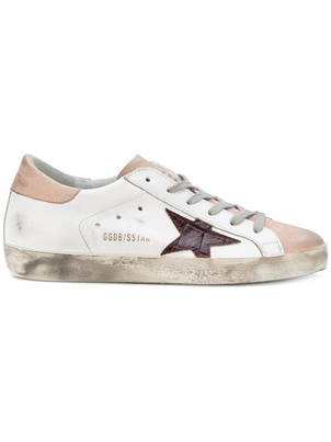 Golden Goose Deluxe Brand Superstar Sneakers in White and Pink Shoes