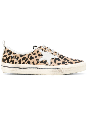 Golden Goose Deluxe Brand Leopard Horse Hair Sneakers Shoes