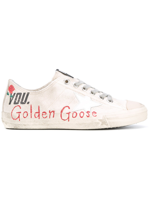 Golden Goose Deluxe Brand Canvas V-Star Sneakers Shoes