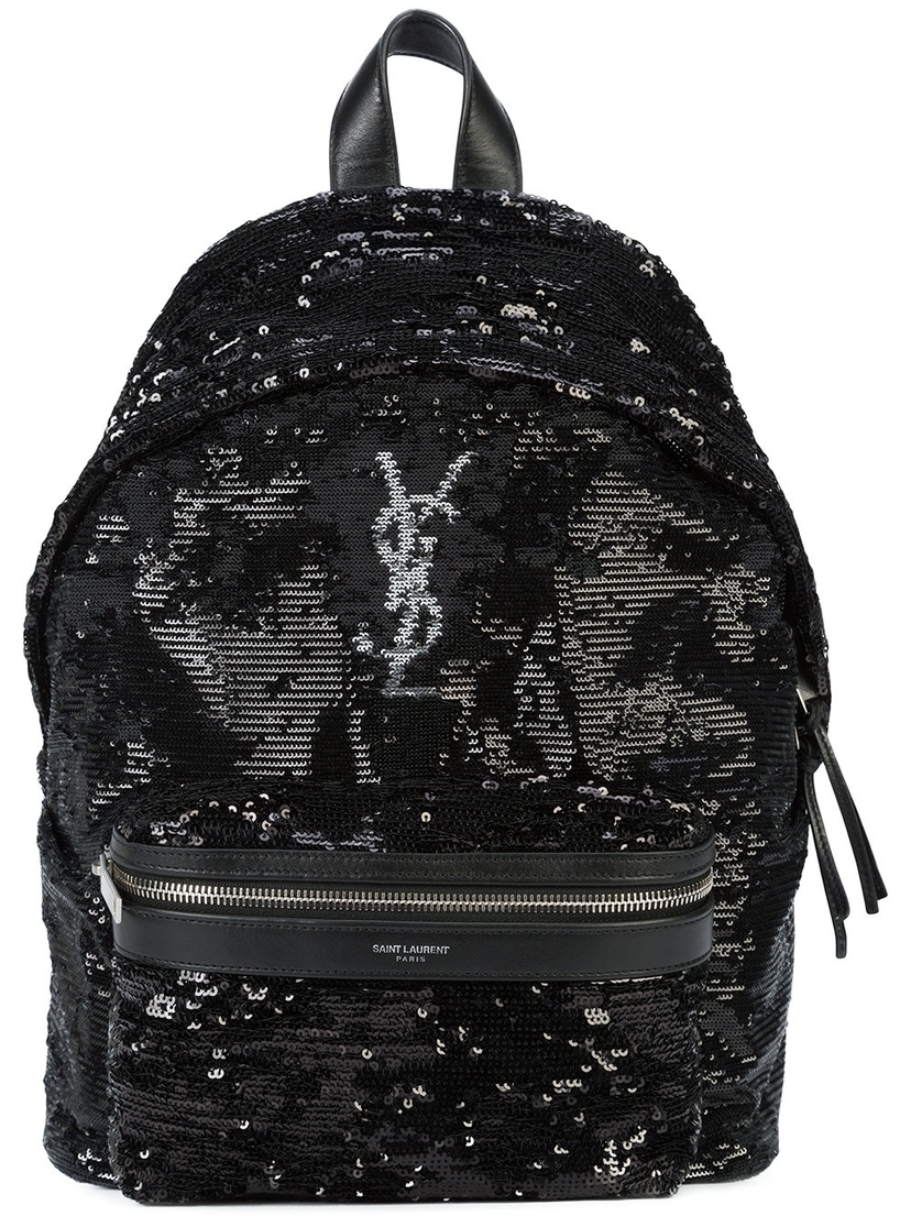 Saint Laurent Logo Monogram Backpack Bags