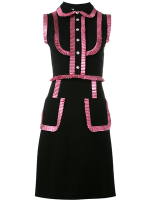 Gucci A Line Dress with Pink Ruffle Dresses
